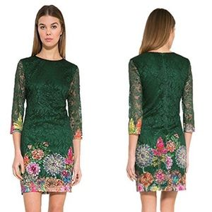 Desigual Floral Dress in Green